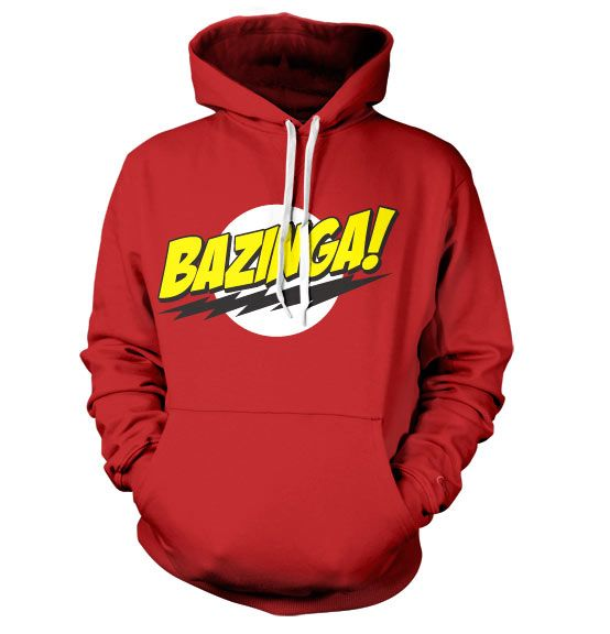The Big Bang Theory hoodie mikina s kapucí a potiskem Bazinga Super Logo