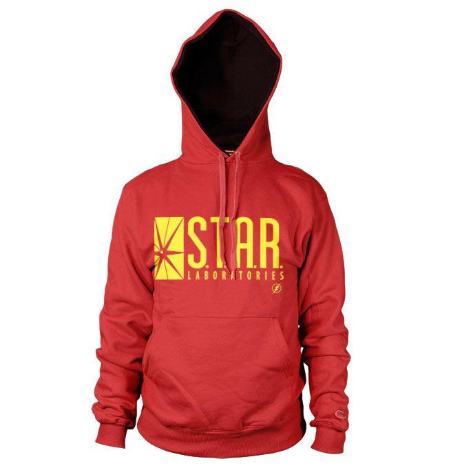 The Flash stylová hoodie mikina s kapucí a potiskem Star Laboratories