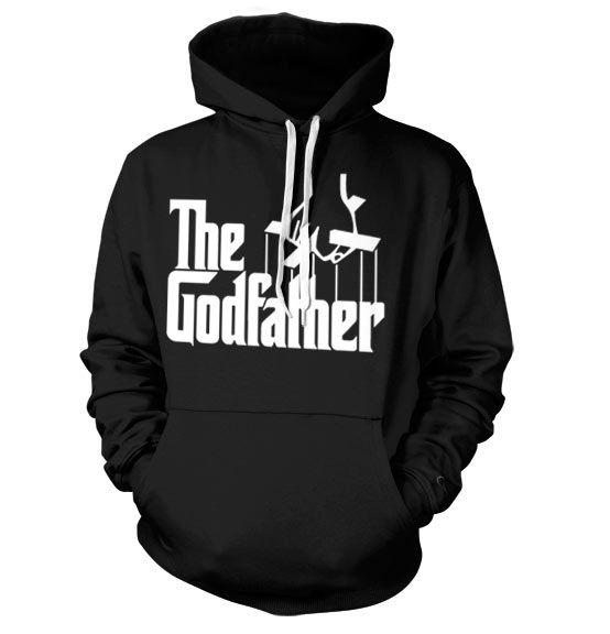The Godfather stylová hoodie mikina s kapucí a potiskem Logo
