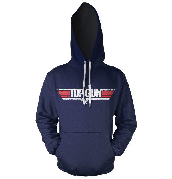 Top Gun stylová hoodie mikina s kapucí a potiskem Logo
