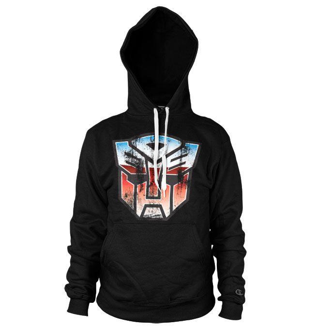 Transformers stylová hoodie mikina s kapucí a potiskem Autobot Shield