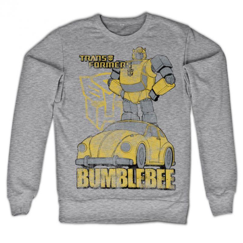 Transformers stylová mikina s potiskem Bumblebee Distressed