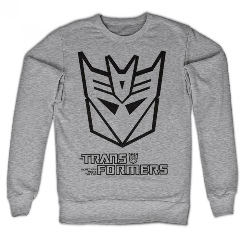 Transformers stylová mikina s potiskem Decepticon Logo