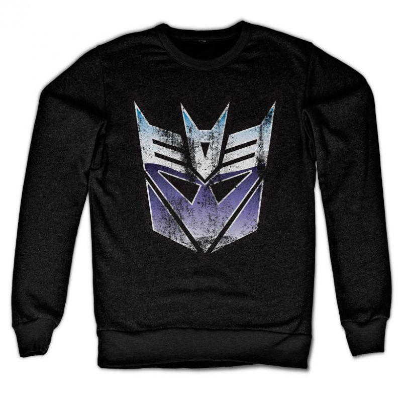 Transformers stylová mikina s potiskem Distressed Decepticon Shield