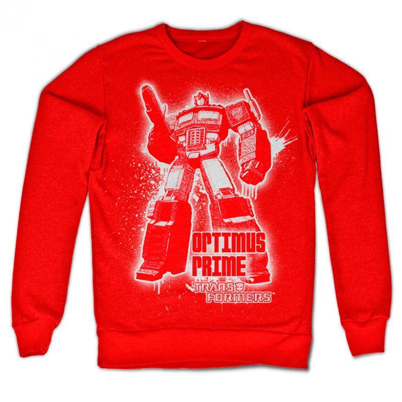Transformers stylová mikina s potiskem Optimus Prime Splatter