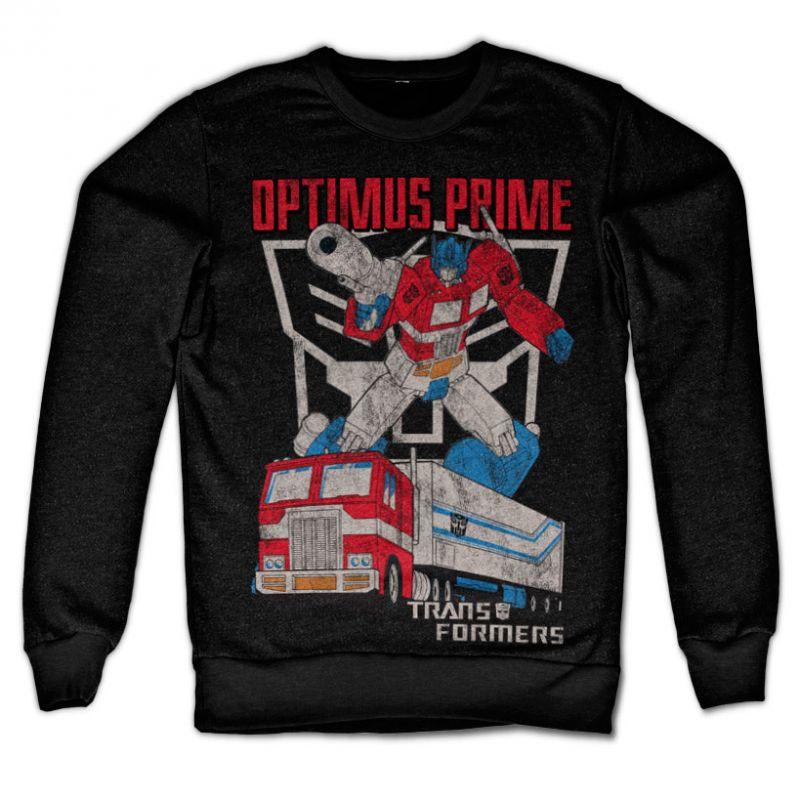 Transformers stylová mikina s potiskem Optimus Prime Distressed