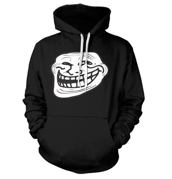 Trollface hoodie mikina s kapucí a potiskem Internet Meme