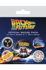 Back to the Future Pin Placky 5-Pack DeLorean