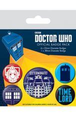 Doctor Who Připínaček Placky 5-Pack Exterminate