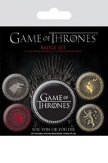 Game Of Thrones Pin Placky 5-Pack Great Houses