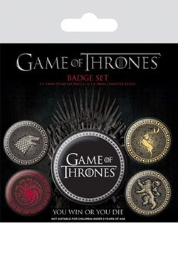 Game Of Thrones Pin Placky 5-Pack Great Houses Pyramid International