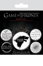 Game Of Thrones Pin Placky 5-Pack Winter Is Coming