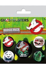 Ghostbusters Připínaček Placky 5-Pack Who You Gonna Call