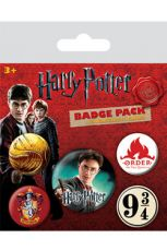 Harry Potter Pin Placky 5-Pack Nebelvír