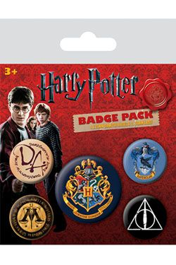 Harry Potter Pin Placky 5-Pack Bradavice Pyramid International