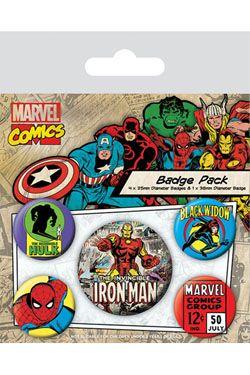 Marvel Comics Pin Placky 5-Pack Iron Man Pyramid International