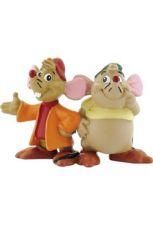 Popelka Mini Figure Gus & Jaq 4 cm