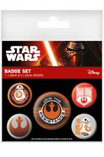 Star Wars Episode VII Pin Placky 5-Pack Join The Resistance