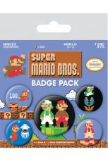Super Mario Bros. Pin Placky 5-Pack