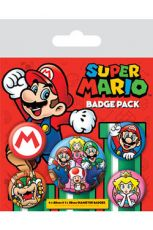 Super Mario Pin Placky 5-Pack