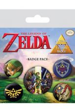 The Legend of Zelda Pin Placky 5-Pack Link