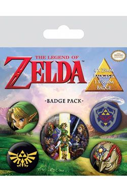 The Legend of Zelda Pin Placky 5-Pack Link Pyramid International