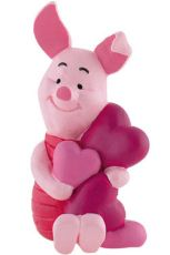 Winnie the Pooh Figure Piglet a Hearts 6 cm