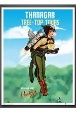 DC Comics Bombshells Art Print Hawkgirl 46 x 61 cm