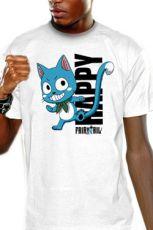 Fairy Tail Tričko Happy Blue Velikost M