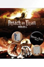 Attack on Titan Pin Placky 6-Pack Characters