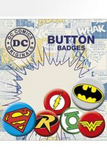 DC Comics Pin Placky 6-Pack Logos