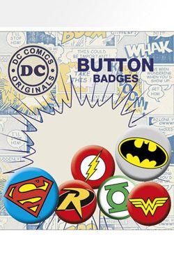 DC Comics Pin Placky 6-Pack Logos GB eye