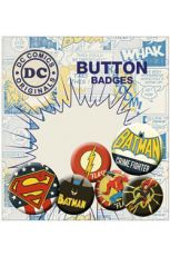 DC Comics Pin Placky 6-Pack Retro