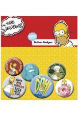 Simpsonovi Pin Placky 6-Pack Homer