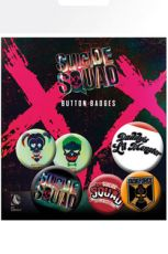 Suicide Squad Pin Placky 6-Pack Lil Monster