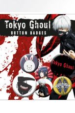 Tokyo Ghoul Pin Placky 6-Pack Mix