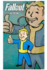 Fallout Gumový Keychain Vault Boy Thumbs Up 7 cm