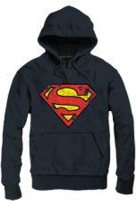 Superman Hooded Mikina Logo black Velikost M