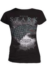 Game Of Thrones Dámské Tričko Stark Houses Velikost M