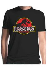 Jurassic Park Tričko Classic Logo  Velikost L