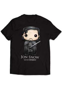 Game of Thrones Tričko Jon Snow Bling Art Velikost L