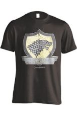Game of Thrones Tričko Stark Coat Of Arms Velikost L