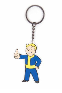 Fallout 4 Gumový Keychain Vault Boy Approves