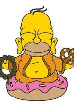 Simpsonovi Vinyl Figure Homer Buddha 8 cm