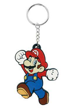 Super Mario Bros. Gumový Keychain Mario 7 cm Difuzed