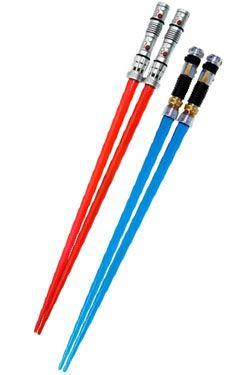 Star Wars Jídelní hůlky Darth Maul & Obi-Wan Kenobi Lightsaber Jídelní hůlky Battle 2-Set Kotobukiya