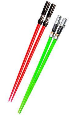 Star Wars Jídelní hůlky Darth Vader & Luke Skywalker Lightsaber Jídelní hůlky Battle 2-Set
