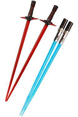 Star Wars Episode VII Jídelní hůlky Kylo Ren & Rey Lightsaber Jídelní hůlky Battle 2-Set
