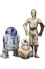 Star Wars Episode VII PVC Soška 3-Pack 1/10 C-3PO & R2-D2 & BB-8