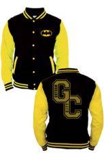 Batman Baseballová Varsity Bunda Gotham City  Velikost XL
